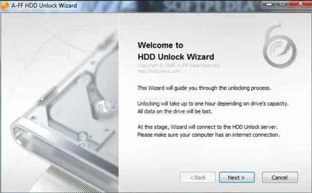 Unlock Hard Disk